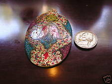 Mother  Pearl Abalone Hand Painted Pendent Carnat Iran