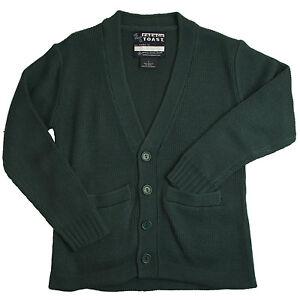 Kids Hunter Green Sweater V-Neck Cardigan French Toast School Uniform XS to XL