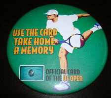 2004 Us Open American Express Card Andy Roddick Large Metal Round Pin Button New