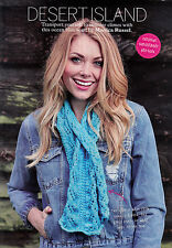 KNITTING PATTERN LADIES LACY KEYHOLE SCARF TEXTURED DK SKM AUA SPECIAL OFFER