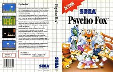 Psycho Fox Sega Master System Replacement Box Art Case Insert Cover Scan Repro.
