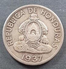 "Honduras, Silver ""Indian Chief"" 1 Lempira, 1937, toned"