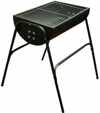 BBQ Charcoal Barbecue Grill Camping Picnic Cooking Stove Steel Half Barrel