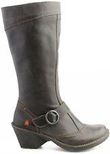 New Art Company Ladies Brunito Leather Oteiza Chunky Heel Boot 0619