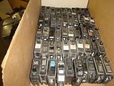 Circuit breakerS lot OF 50  SINGLE POLE USED FREE SHIPPING