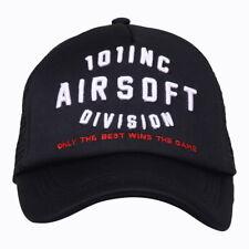 Cappello Baseball 101 AIRSOFT Nero Griglia d'aerazione Taglia Unica Regolabile