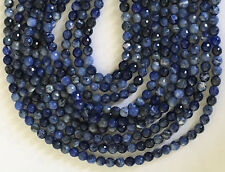 "15"" STRAND AAA GEM 6MM ROUND FACETED SODALITE BEADS"