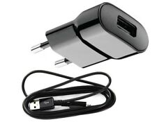 2in1 Original USB Micro Ladegerät für Samsung SM-G903F Galaxy S5 Neo Schwarz