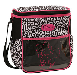 Diaper Bag Lunch Tote Small Disney Minnie Black Pink NWT