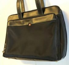 Swiss Gear Briefcase Messenger 3 Compartment Bag Black Travel Work Tote Carrier