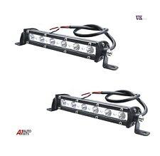 "2X 7"" 18W LED Slim Work Lights Bar Spot Off-Road Driving SUV 4x4 Bullbar 12-24v"