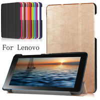 LUXURY Folding Stand Leather Slim Case Cover For Lenovo Tab 3 730 7-inch Tablet
