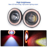 "Red 2.5"" Inch COB LED Car Fog Light Projector Angel Eyes Halo Ring DRL Bulb Lamp"