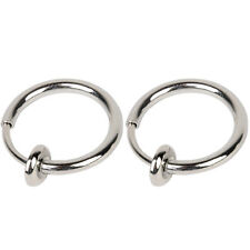 2x13mm Fake Nose Lips Ring Spring Clip Hoop Earring Unisex Goth Piercing Septum