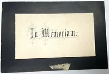 More details for victorian mourning card 1884