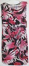 NWT AA Studio AA Black White Pink Shift Scoop Neck Sleeveless Dress 4