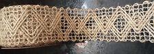 55mm di larghezza Intrecciato Iuta Tela Di Iuta Rustico Vintage naturale NASTRO matrimoni Crafts