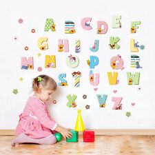 26 A-Z Alphabet Letters Winnie The Pooh Wall Stickers Decals Kids Nursery Decor