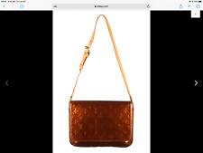 Authentic Louis Vuitton Vernis patent Shoulder bag  purse Thompson bronze