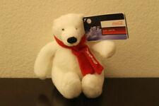 "Coca-Cola Polar Bear Plush 7"" 2007 With Red Scarf Original Tags"