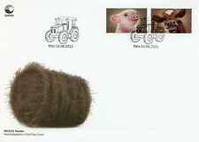 More details for norway 2021 fdc domesticated animals stamps farm animals pigs cows 2v s/a set