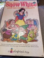 Vintage Snow White And The Seven Dwarfs Cartoon Kit Colorforms 420