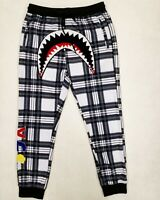 Hudson Outerwear 100% AUTHENTIC Men's LARGE plaid shark mouth track pants