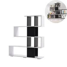 Modern 4 Shelves S Shape Bookcase Portable Home CD DVD Display Organiser Holder