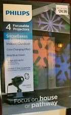 Philips - 4 Focusable Projectors - Snowflakes Indoor/Outdoor Red blue and green