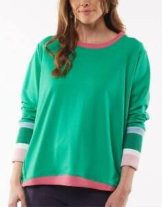Ladies Elm Peaches Crew - Green - Sizes 10 to 16