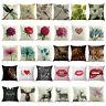 Vintage Cotton Linen Waist Throw Pillow Case Cushion Covers Home Sofa Bed Decor