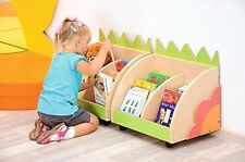 Kids Portable Bookshelf Childrens Book Container Case Educational Toys Gift NEW