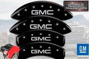 "2019-2021 ""GMC"" Sierra 1500 Front + Rear Black MGP Brake Disc Caliper Covers 4pc"