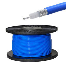 """100 Feet RG402 .141"""" Semi-rigid Coaxial Cable with Blue FEP Jacket"""