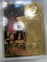 NBA 1999 Michael Jordan 22KARAT GOLD TRADIMG CARD With Original Packaging