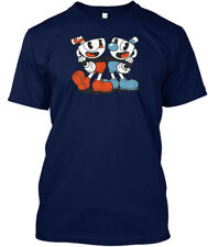 New Cuphead and Mugman Video Game XBOX Navy Blue T-Shirt Size Large (L)