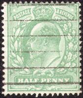 1911 HARRISON SG279 1/2d DULL GREEN, PERF 15X14 FINE USED