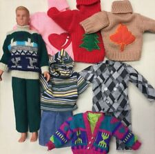 1990 Big Step By Hasbro C-151 & Lot 11 Clothing Pieces W/5 Sweaters Ken Barbie