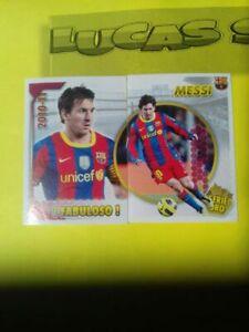 Lionel MESSI FC Barcelona 2010-11 PANINI #120 # 121