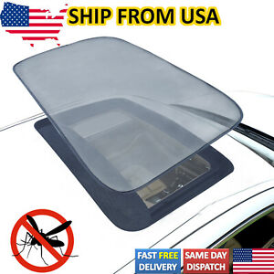 Magnetic Moon Roof Mesh Sunroof Shade Car Cover Trip Mosquito Net Awnings Bugs