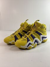 ADIDAS CRAZY 8 SUN Kobe Bryant Lakers Yellow Purple Shoes G24829 - Men's Size 12