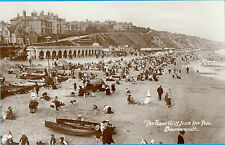 "East Cliff from Pier,Bournemouth-""Note Fashion""-Wearing suits/dresses on beach!!"