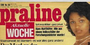 Praline Aktuelle Woche Nr.50 vom 5.12.1974 - Zeitschrift Freizeit-Erotik-Magazin