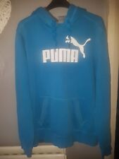 A Genuine Men's PUMA Blue Hoody Sweatshirt Medium Size