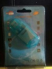 New USB 2.0 SDHC SD MMC Memory Card Reader Writer Adapter Plug and Play Blu