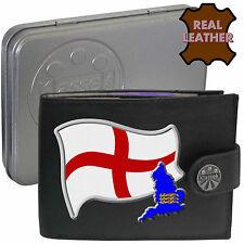 Angleterre St George drapeau CARTE ANGLAIS klassek Portefeuille en cuir COA cadeau Tin