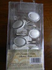 Better Home 12 Resin Shower Curtain Hooks White And Black Oval Medallion - Nib
