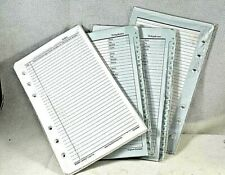 Franklin Covey 6 Hole Refill Pages 425 X 675 4 Lot Mixed Address Notes