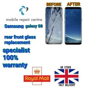 Samsung Galaxy S8 Cracked broken Front Glass Replacement service refurbished