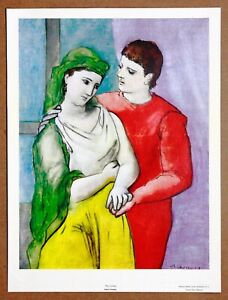 Picasso  The Lovers   Rare Vintage 1st Limited Edition Original 1960 Lithograph